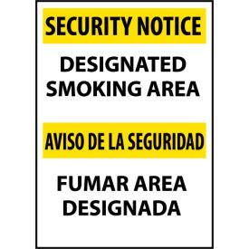 Security Notice Aluminum - Designated Smoking Area