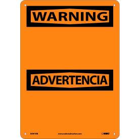 Bilingual Plastic Sign - Warning Blank