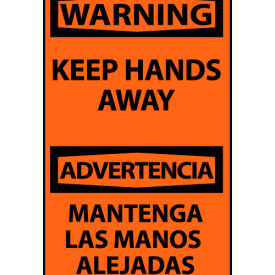 Bilingual Machine Labels - Warning Keep Hands Away