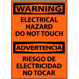 Bilingual Machine Labels - Warning Electrical Hazard Do Not Touch