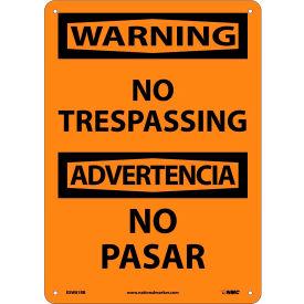Bilingual Plastic Sign - Warning No Trespassing
