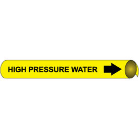 Precoiled and Strap-on Pipe Marker - High Pressure Water