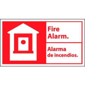 Bilingual Fire Sign - Fire Alarm Alarma De Incendios - Vinyl