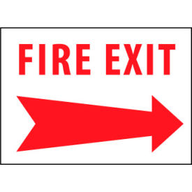Fire Safety Sign - Fire Exit with Right Arrow - Aluminum