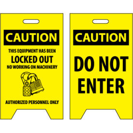 Floor Sign - Caution This Equipment Has Been Locked Out Do Not Enter