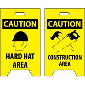 Floor Sign - Caution Hard Hat Area Construction Area