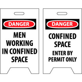 Floor Sign - Danger Men Working In Confined Space