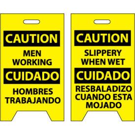 Floor Sign - Caution Men Working Cuidado Hombres Trabajando