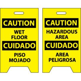 Floor Sign - Caution Wet Floor Cuidado Piso Mojado