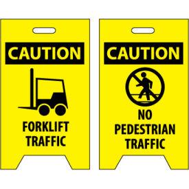 Floor Sign - Caution Forklift Traffic No Pedestrian Traffic