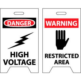 Floor Sign - Danger High Voltage Warning Restricted Area
