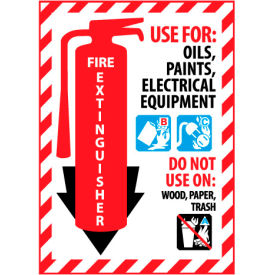 Fire Extinguisher Class Marker - Use For Oils, Paints, Electrical - Plastic