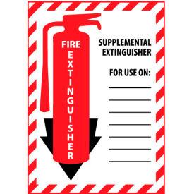 Fire Extinguisher Class Marker - Supplemental Extinguisher - Plastic