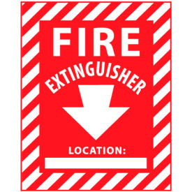 Fire Safety Sign - Fire Extinguisher with Blank Space - Plastic