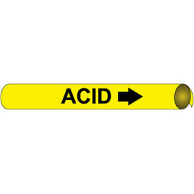 Precoiled and Strap-on Pipe Marker - Acid