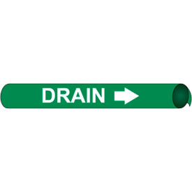 Precoiled and Strap-on Pipe Marker - Drain