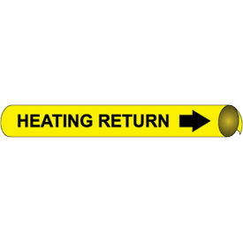 Precoiled and Strap-on Pipe Marker - Heating Return