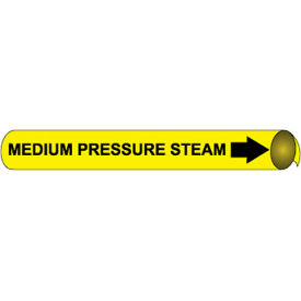 Precoiled and Strap-on Pipe Marker - Medium Pressure Steam