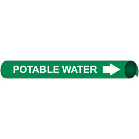 Precoiled and Strap-on Pipe Marker - Potable Water