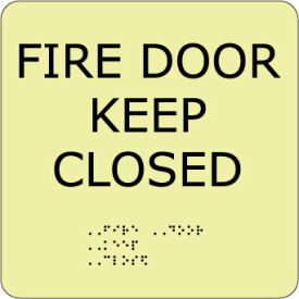 Glow Braille - Fire Door Keep Closed