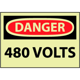 Machine Labels - Glow - Danger 480 Volts