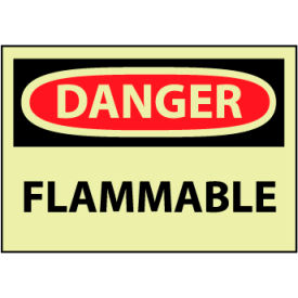 Machine Labels - Glow - Danger Flammable