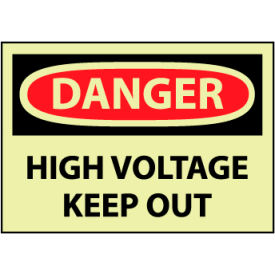 Glow Danger Vinyl - High Voltage Keep Out