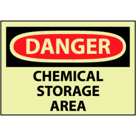 Glow Danger Rigid Plastic - Chemical Storage Area