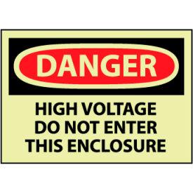 Machine Labels - Glow - Danger High Voltage Do Not Enter