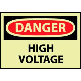 Machine Labels - Glow - Danger High Voltage