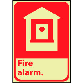 Glow Sign Rigid Plastic - Fire Alarm