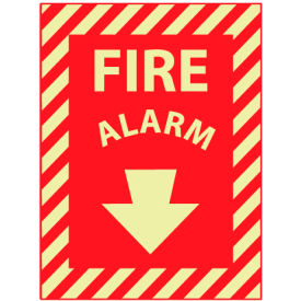 Glow Sign Vinyl 12x9 - Glow Fire Alarm
