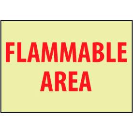 Glow Sign Vinyl - Flammable Area