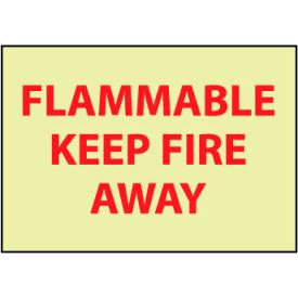 Glow Sign Rigid Plastic - Flammable Keep Away