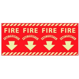 Glow Sign Vinyl - Fire Extinguisher Column Marker
