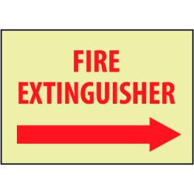 Glow Sign Vinyl - Fire Extinguisher Right Arrow