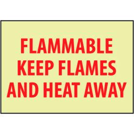 Glow Sign Rigid Plastic - Flammable Keep Flames Away