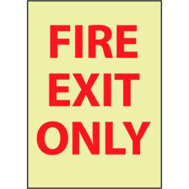 Glow Sign Vinyl - Exit Only