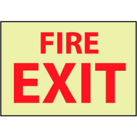 Glow Sign Rigid Plastic - Fire Exit