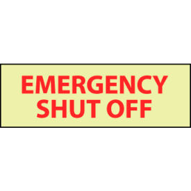 Glow Sign Vinyl - Emergency Shut Off