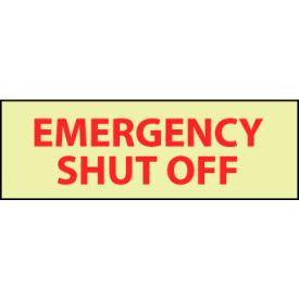 Glow Sign Rigid Plastic - Emergency Shut Off