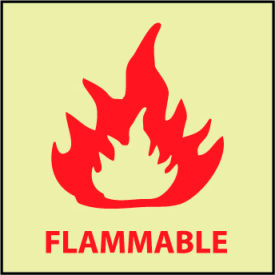 Glow Sign Vinyl - Flammable
