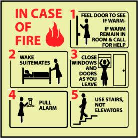 Glow Sign Vinyl - In Case Of Fire Feel Door