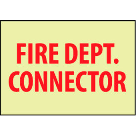 Glow Sign Rigid Plastic - Fire Dept. Connector
