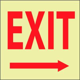 Glow Sign Rigid Plastic - Exit(Right Arrow)