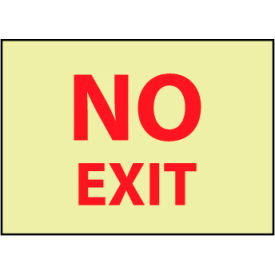 Glow Sign Rigid No Exit