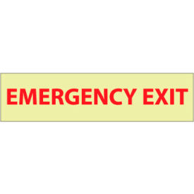 Glow Sign Vinyl - Emergency Exit