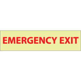 Glow Sign Rigid Plastic - Emergency Exit