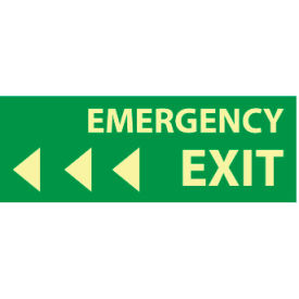 Glow Sign Rigid Plastic - Emergency Exit(Left Arrow)
