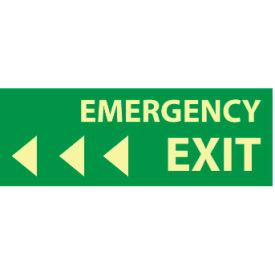 Glow Sign Rigid Plastic - Emergency Exit(Left Arrow)